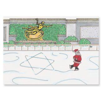 Santa Ice Skating