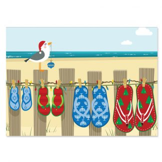 Holiday Flip Flops