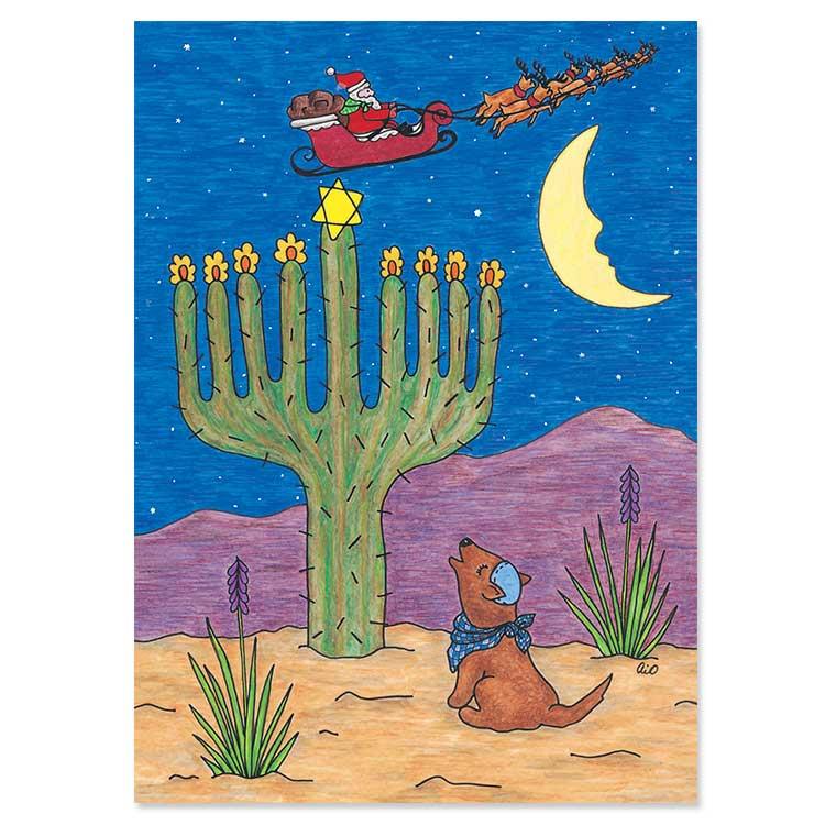 Cactus Menorah