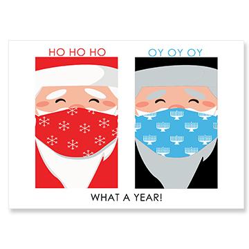 Santa/Rabbi Face Masks